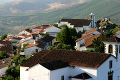 Rooftop of Marvao houses, Portugal. Cityscape of the medieval village of Marvao, Portugal Stock Photography