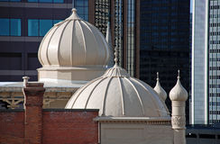 Rooftop Minarets above a Church Stock Photo