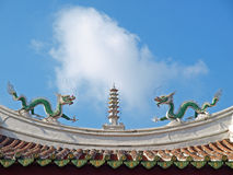 The rooftop of Official God of War Temple Royalty Free Stock Photo