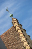 Rooftop of the old town hall of Regensburg with weather vane Stock Photos