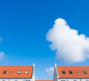 Rooftop with orange tiles Royalty Free Stock Images