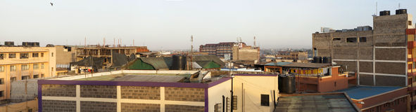 Rooftop panorama of Nairobi, Kenya Royalty Free Stock Photography