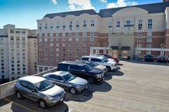 Rooftop parking lot Stock Photos