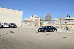 Rooftop parking lot Stock Photography