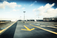 Rooftop parking. After the rain Royalty Free Stock Image