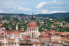 Rooftop of Parliament Building in Budapest Stock Photography