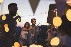 Rooftop party Royalty Free Stock Images