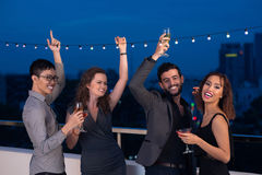 Rooftop party Stock Image