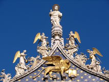 Rooftop of The Patriarchal Cathedral Basilica of Saint Mark Stock Images