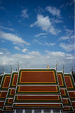 Rooftop pattern of Temple Royalty Free Stock Image
