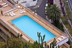 Rooftop pool Stock Images