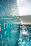 Rooftop pool area. A luxury swimming pool water feature Stock Image