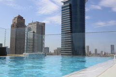 Rooftop pool Royalty Free Stock Image