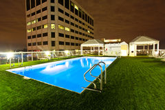 Rooftop Pool in New Orleans Royalty Free Stock Images