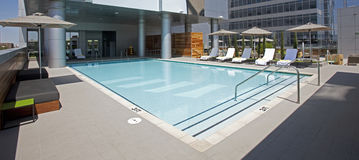 Rooftop Pool Stock Photography