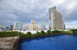Rooftop pool Royalty Free Stock Images