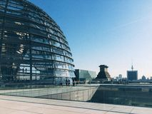 Rooftop of Reichstag Building, Berlin, Germany Stock Photos