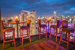 Rooftop Restaurant Stock Photo