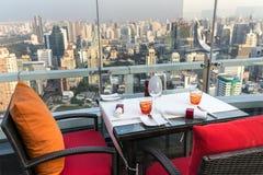 Rooftop restaurant in Bangkok Royalty Free Stock Photo