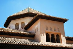 Rooftop room, Alhambra Palace. Roof top of the Salas de los Reyes in the Court of the Lions, Palace of Alhambra, Granada, Granada Province, Andalusia, Spain Stock Photography