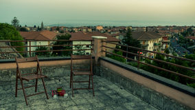 A rooftop scene in Sicily Royalty Free Stock Photography