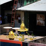 Rooftop shrine Stock Image