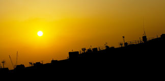 Rooftop silhouette sunset over London UK Royalty Free Stock Photos