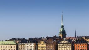 Rooftop skyline of Gamla Stan, Stockholm Stock Images