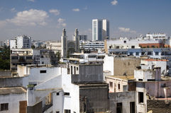 Rooftop skyline view of casablanca morocco Royalty Free Stock Photos