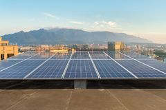 Free Rooftop Solar Energy Royalty Free Stock Image - 111071086