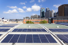 Free Rooftop Solar Panels Royalty Free Stock Photos - 62868538