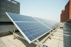 Rooftop solar power station Stock Photo