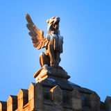 Rooftop statue in Barcelona stock images