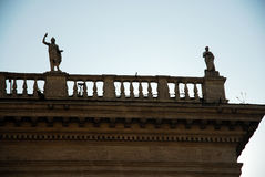 Rooftop statues royalty free stock image