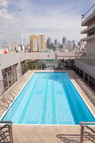 Rooftop Swimming Pool Royalty Free Stock Photos