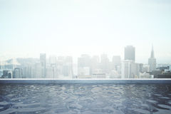 Rooftop swimming pool Royalty Free Stock Image