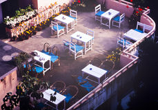 Rooftop Tables Royalty Free Stock Photo