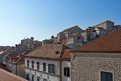 Rooftop Triangle 3, Dubrovnik Old Town, Croatia. royalty free stock images