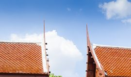 Rooftop triangle style,Thailand Stock Photo
