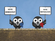 Rooftop USA Election Royalty Free Stock Photo