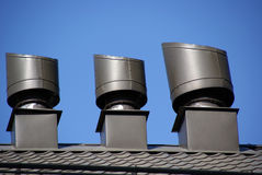 Rooftop vents Stock Image