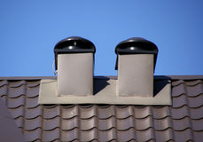 Rooftop vents stock images