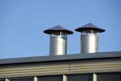 Rooftop vents royalty free stock images