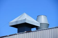 Rooftop vents Royalty Free Stock Photography