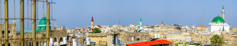 Rooftop view of Acre Akko Stock Images