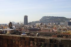 Rooftop view from Barcelona Cathedral. Spain royalty free stock image