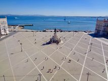 Rooftop view of Commerce Square, Lisbon royalty free stock photos