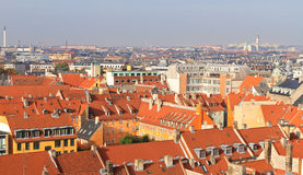 Rooftop view of Copenhagen Stock Image