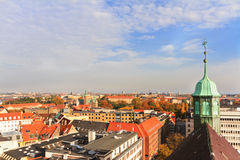 Rooftop view of Copenhagen Royalty Free Stock Images