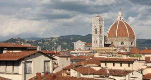Rooftop View of the Duomo, Florence Stock Photo